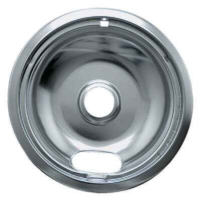 "Range Kleen Electric 8"" Style A Round Chrome Drip Pan"