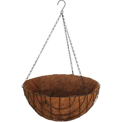 Best Garden 16 In. Steel Rod Black Powder Coat Hanging Plant Basket