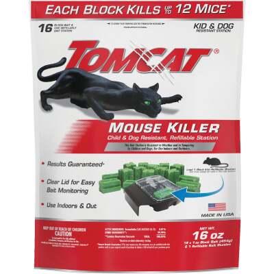 Tomcat Mouse Killer I Refillable Mouse Bait Station (16-Refill)