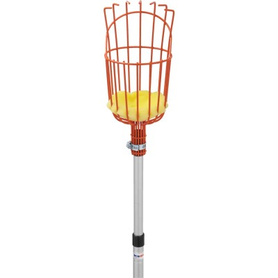 Best Garden Basket w/ Long Handle Enameled Steel Aluminum Fruit Picker