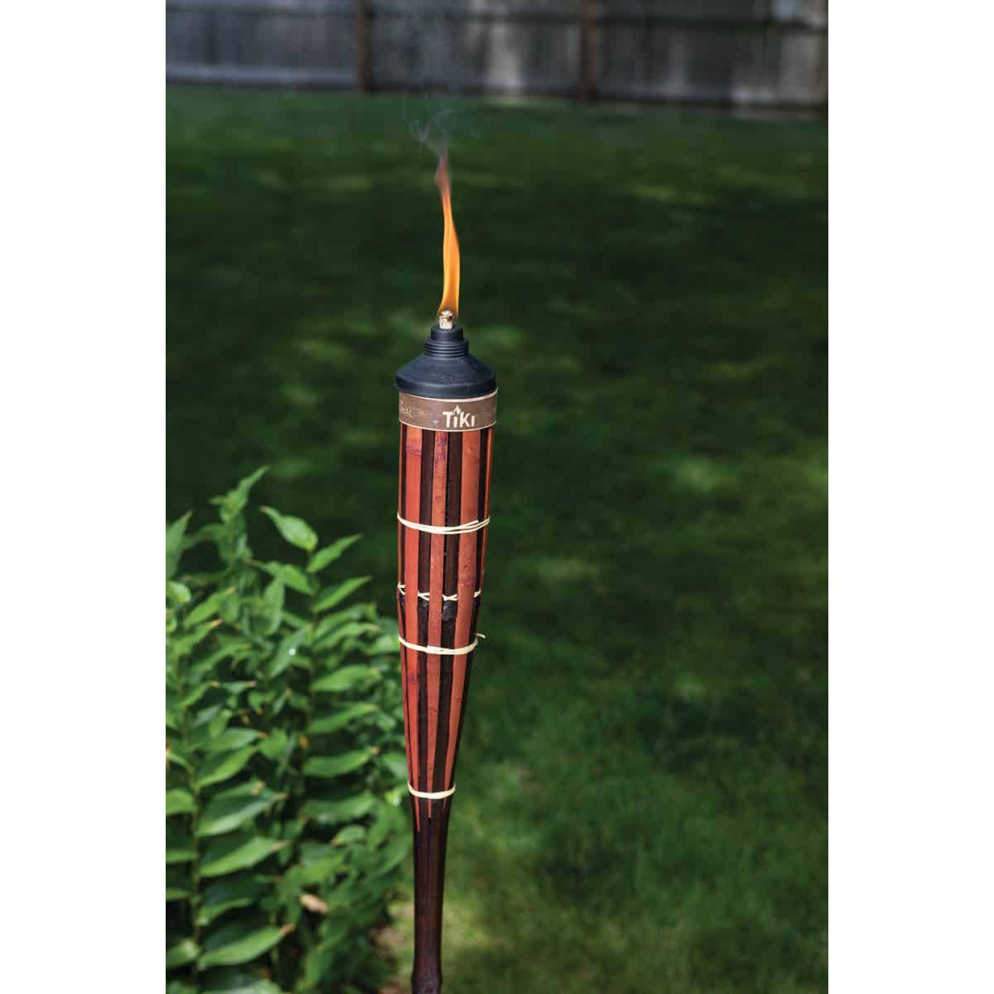 Tiki Royal Polynesian 5 Ft. Brown Bamboo Patio Torch Image 2