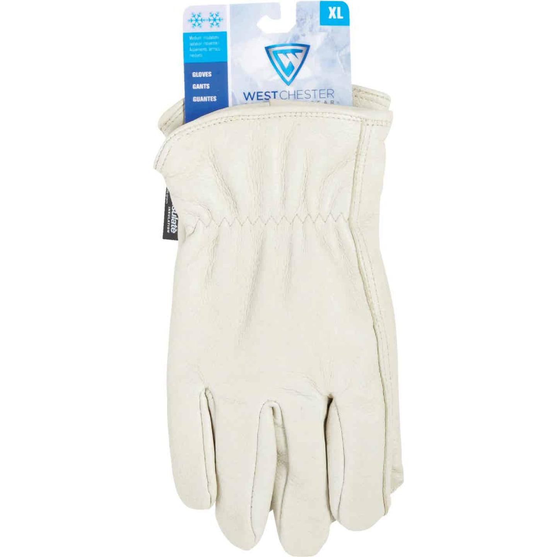 West Chester Men's XL Grain Pigkin Leather Driver Winter Work Glove Image 2