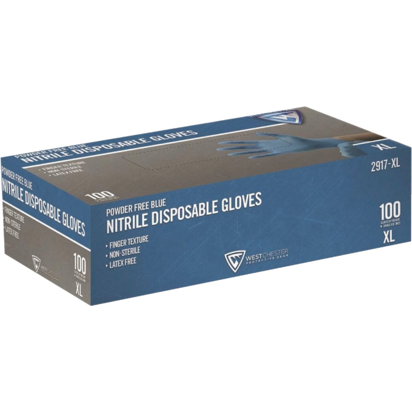 West Chester Protective Gear Large Nitrile Industrial Grade Disposable Glove (100-Pack) Image 2