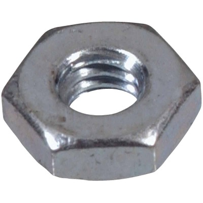 Hillman #10 24 tpi Grade 2 Zinc Hex Machine Screw Nut (100 Ct.)