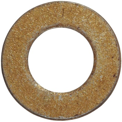 Hillman 5/16 In. SAE Hardened Steel Yellow Dichromate Flat Washer (100 Ct.)