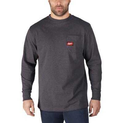 Milwaukee Medium Gray Long Sleeve Men's Heavy-Duty Pocket Shirt