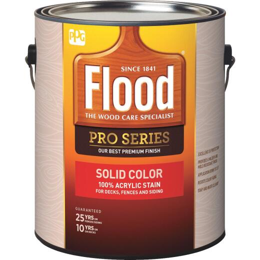 Flood Pro Series 100% Acrylic Opaque Deck Fence And Siding Exterior Stain, Deep Base, 1 Gal.