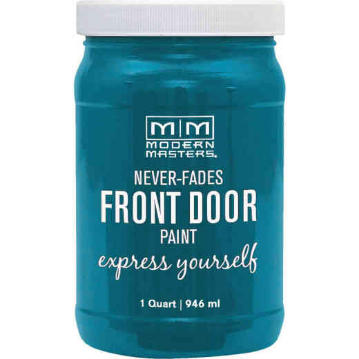 Modern Masters Acrylic Satin Front Door Paint, Tranquil, 1 Qt.