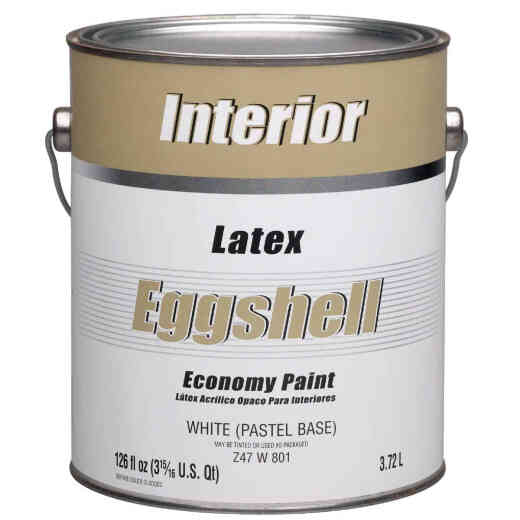 Economy Latex Eggshell Interior Wall Paint, White-Pastel Base, 1 Gal.