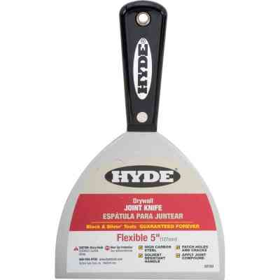 Hyde Black & Silver Professional 5 In. Flexible Joint Knife