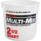 Leaktite 2.5 Qt. White Multi-Mix All Purpose Mixing And Storage Container Image 1