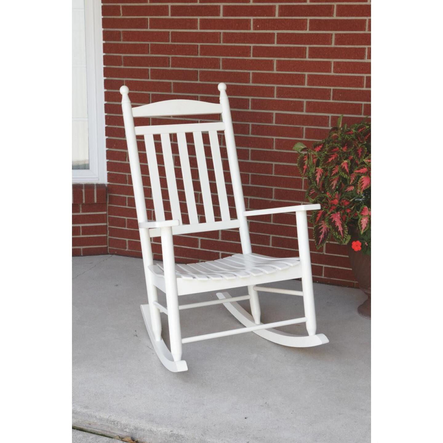 Knollwood White Wood Rocking Chair Image 2