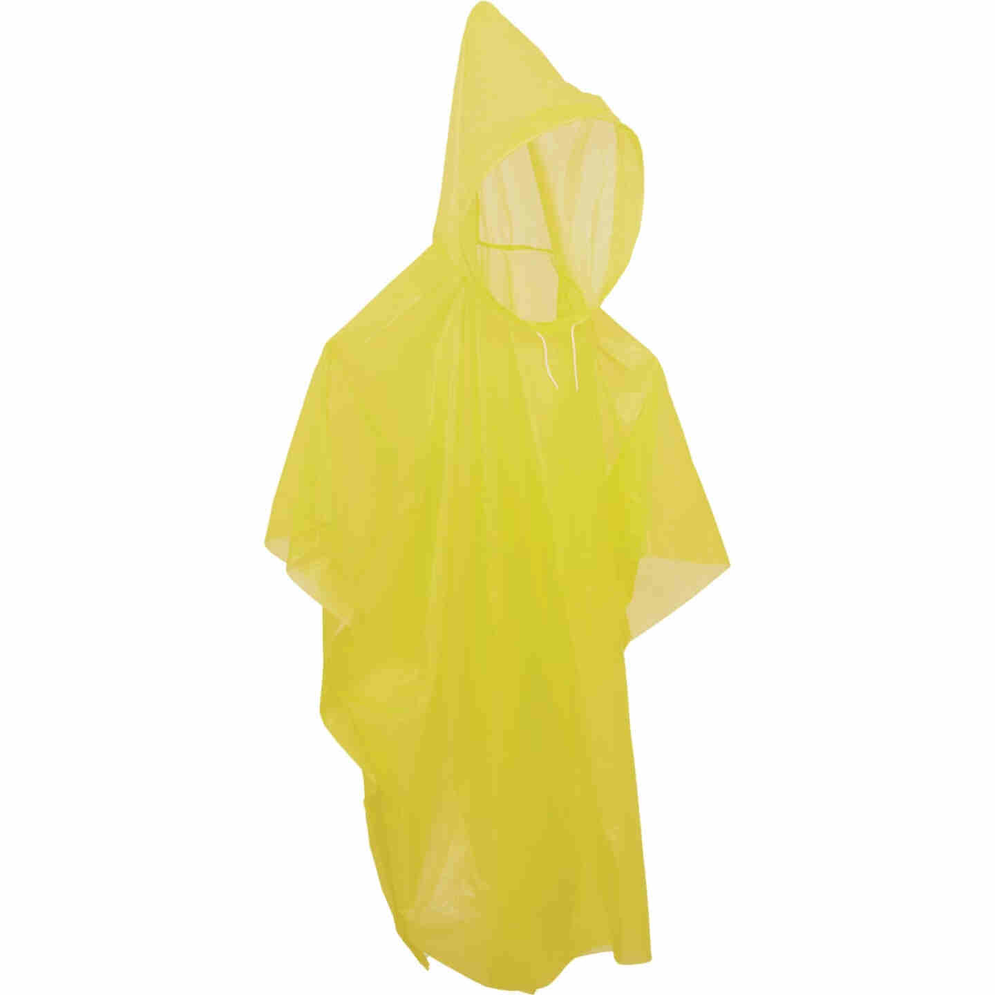Smart Savers 52 In. x 40 In. Yellow Lightweight Rain Poncho Image 2